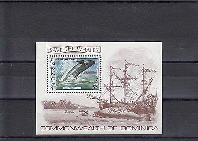 Timbre Stamp Bloc Ile Dominica  Y&t#81 Baleine Bateau Neuf**/mnh-Mint 1983 ~A37
