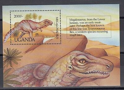 Timbre Stamp Bloc Ouganda Y&t#153 Dinosaure Neuf**/mnh-Mint 1992 ~A37