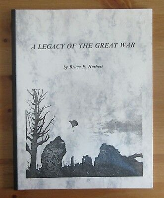 signed WW1 VET BIOGRAPHY BOOK after SOMME RFC herbert