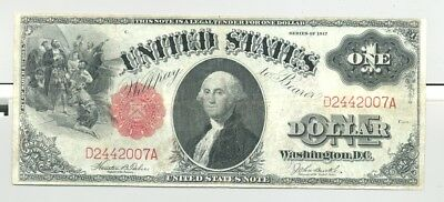$1 Series 1917 Fr. 36 United States Note very nice, no problem, no reserve