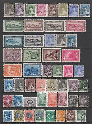 Romania 1928 - 1936 collection, 114 stamps MH or used
