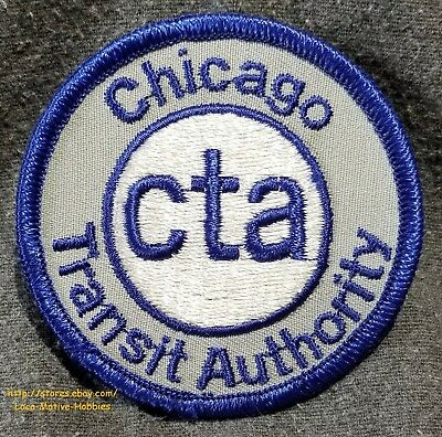 """LMH Patch 1950s 1960s  CHICAGO TRANSIT AUTHORITY Horizontal CTA Obsolete Gray 3"""""""