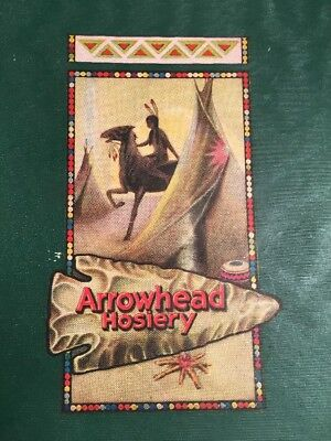 Arrowhead Hosiery Box Vintage Clothing Fashion Indian Maiden Horse Teepee