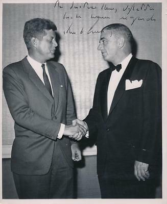 John F. Kennedy- Super Rare Vintage 8X10 Photograph Signed &  Inscribed