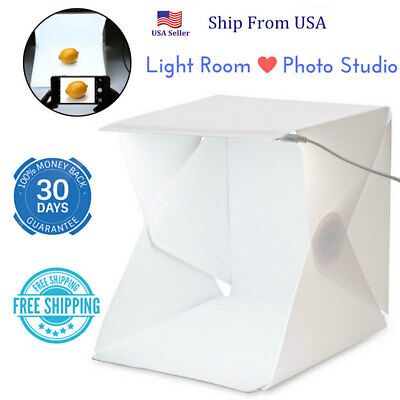 LED Light Room Photo Studio Photography Lighting Tent Backdrop Cube Mini Box #bg