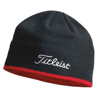 Titleist Golf 2017 Tour Patch Beanie Winter Hat - Black/Red