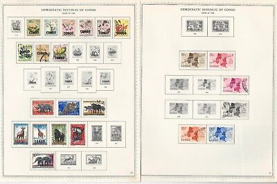 Congo Collection 1960-1971 on Minkus Specialty Pages, Around 25 Pages