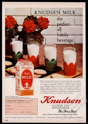 1960 Knudsen Dairy California milk color photo vintage print ad