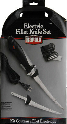 """Rapala NK08670 Knives Fixed Knife Stainless Electric Fillet Knife Set 6"""" & 7"""