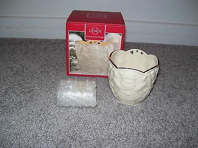 Lenox Merry Lights Santa Votive New In Box