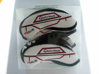 10 Black White TaylorMade RSi 2 Iron Covers New Golf Headcovers