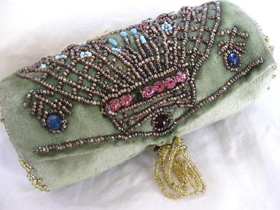 Attractive Antique Beadwork Sewing Hussif/Etui