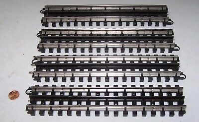 "O Gauge K-Line Snap-Track 4 Pieces of 10"" Straight Track Pieces Lot R17-28"