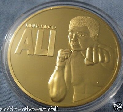 Muhammad Ali Gold Coin Greatest Boxer aka Cassius Clay Punching Sparing Fighter