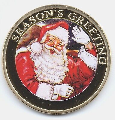 Merry Christmas Gold Coin Happy Holidays Gift for the Man who has everything UK