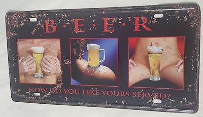 Beer Tin Picture Nude Lady Bum Bust Rude Erotic Black Sexy Adult 18+ Unusual USA
