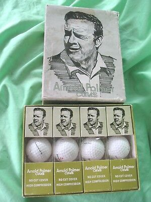 Boxed set of 12 Arnold Palmer vintage Cutlass model GC 950 no cut golf balls