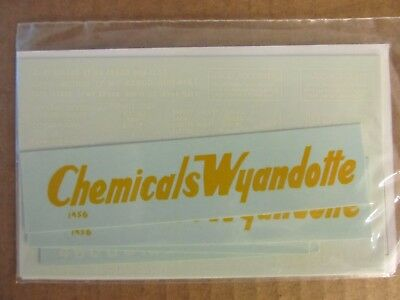 Nos Walthers O Scale Decal - Wyandotte Chemical Tank Car #1456