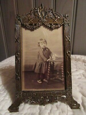CUTE ! FRENCH ANTIQUE LATE XIX th. C. METAL PICTURE FRAME