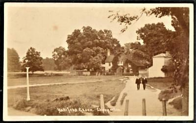 RPPC pc Middlesex = Halliford Green, Shepperton (Used 1908)
