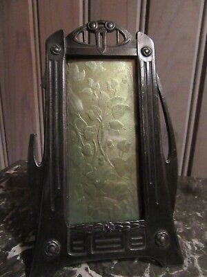 BEAUTIFUL ANTIQUE EARLY XX th. C. METAL PICTURE FRAME JUGENDSTIL