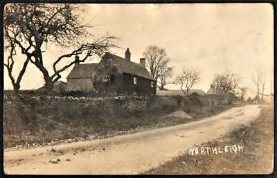 RPPC pc Oxfordshire = NORTH LEIGH (Northleigh) Near Witney Used 1913