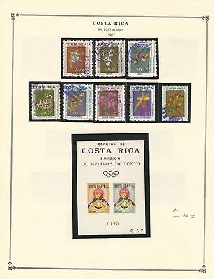 Costa Rica Collection 1965-70 on Scott International Pages, Airmail, BOB