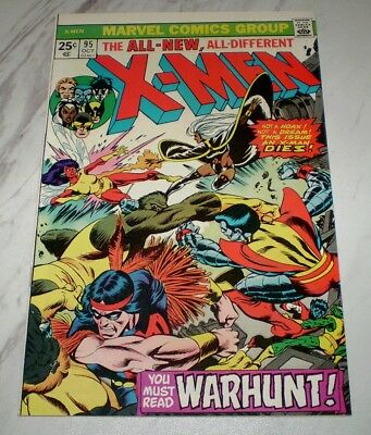 X-Men #95 VF/NM 9.0 OW pages Unrestored 1975 Marvel - Death of Thunderbird