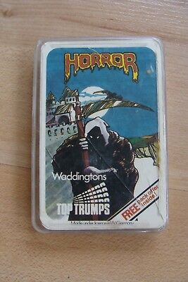 Rare Original Vintage Top Trumps Devil Priest Horror - Waddingtons 1980s