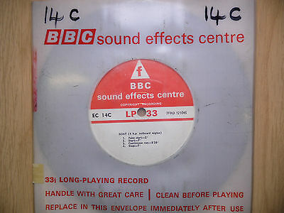 """BBC Sound Effects 7"""" Record - Boat, 4HP Outboard Engine, Run Against Tide"""