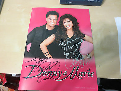 Donny and Marie Concert Program Personalized on front cover