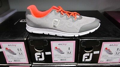 FootJoy enJoy Ladies Golf Shoes Size 8.5M Pool Grey Mist Spikeless