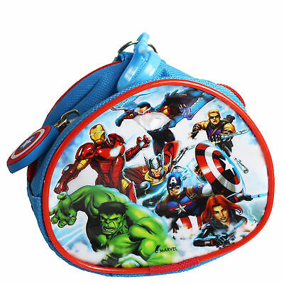 Children's Character PVC Front Coin Wallet Purse with Clip - Avengers