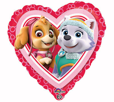 Paw Patrol Skye Everest Balloon 17 Foil Heart Valentine Birthday Party Supplies