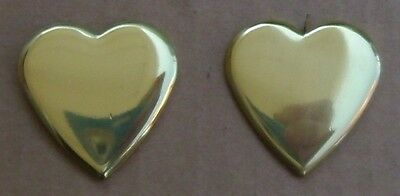 """Solid Brass Heart Bridle Rosettes 7/8"""" Loop FREE SHIPPING"""