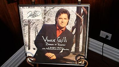 VINCE GILL BREATH OF HEAVEN TICKET CD / Album Flat  Autographed / Signed Framed!