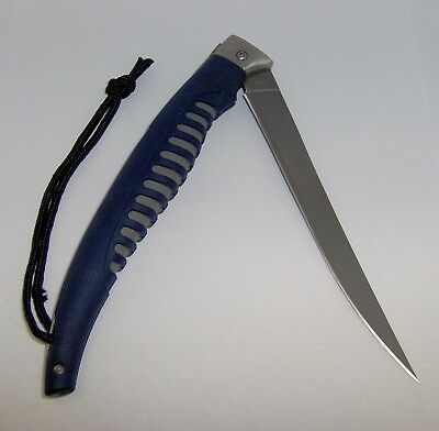 VINTAGE BUCK 220 SINGLE-BLADE FOLDING POCKET KNIFE with RUBBER GRIP - L@@K!