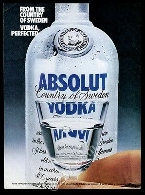 1979 Absolut vodka bottle photo Vodka Perfected vintage print ad