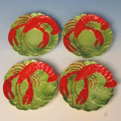Royal Bayreuth China - Lobster - 2 Butter Pats and 2 Demitasse Saucers