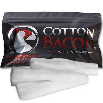 V2 Version 2.0 By Wick 'N' Vape Organic Wicking Material Cotton Bacon DIY US