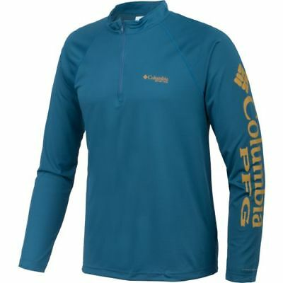 Columbia Sportswear Mens Terminal Tackle 1/4 Zip Sport Fishing Top Shirt 3 Sizes