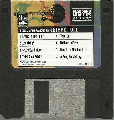 Tune 1000 Standard Midi Files 3.5 Floppy Disk - Songs Famous By Jethro Tull