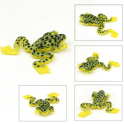 4Pcs 3D Eyes Soft Artificial Frog Bait Fishing Lure Top water Baits Fishing Lure