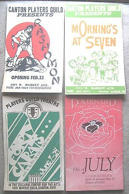 Vintage Canton Ohio Players Guild Theatre Playbills Forty Carats Rashomon MORE