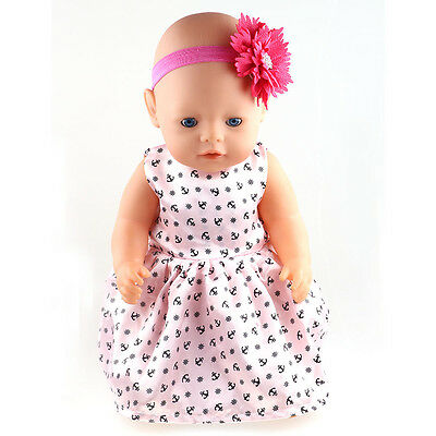 1set Doll Clothes wear for 43cm Baby Born zapf (only sell clothes ) B595