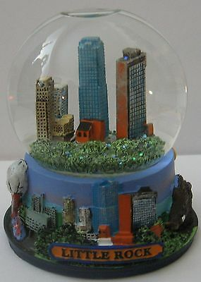 "Little Rock Snow Globe Miniature 3 1/2"" Snowdome Arkansas Souvenir"