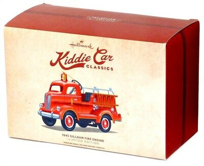 2016 Hallmark Kiddie Car Classics 1945 Gilham Fire Engine Toy Pedal Truck!