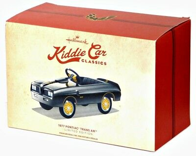 2016 Hallmark Kiddie Car Classics 1977 Pontiac Trans Am Collectible Pedal Car!