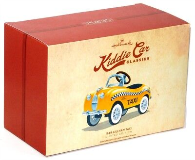 2017 Hallmark Kiddie Car Classics 1949 Gilham Taxi Collectible Toy Pedal Car!