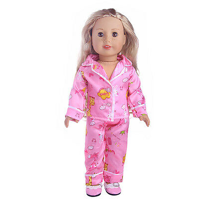 rose Red 1 set pajamas  for 18inch American girl doll n162